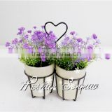 Artificial lavender bonsai home/hotel/office decor mini plastic flower potted green plants
