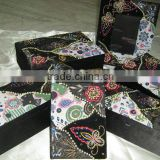 Designer Embroidered Handmade Beaded Fabric Photo Frame ~ Box ~Jewellery Boxes