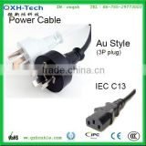 6ft 18AWG 3 Prong AC Power Cord with IEC C13/C14 Connector