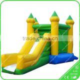 Attractive giant inflatable playgrounds,inflatable bouncer slide,inflatable slide with arched door