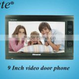 Hot sale 9 inch plastic screen handfree monitor with night vision camera video door phone for intercom system