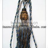 High quality curtain tassel tiebacks with beads, tieback tassel fringe trimming manufacturer in Hangzhou