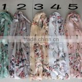 New Women's Fashion Georgette Long Wrap Shawl Beach Silk Scarf Scarves double-layer silk scarf