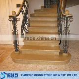 All size beige marble stair outdoor stone stair treads marble steps