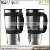 Boss stainless steel insulated coffee mug with handle and lid