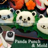 kitchen decoration tools kids toy gift seaweed puncher rice ball maker bento lunch box utensile panda punch & rice ball mold