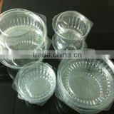 small plastic cylinder containers /disposable plastic containers and lids / disposable plastic salad box container