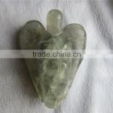 2015 Hot Quartz Crystal Angels Sale / Natural Carving Angels Wholesale/natural,decor small Rock crystal Angel figurines for sale