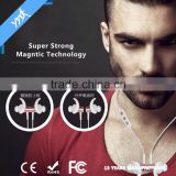 Sporty Wireless Stereo bluetooth headset with magnetic, sports Bluetooth Earphone Magnetic