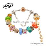 Trending Hot Products Fashion Silver Plating European Charm Bracelet Murano Glass Beads Bracelets For Women