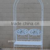 wholesale metal garden arbors for climbing plants seat furniture wrought iron park bench