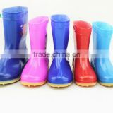 kids patterned rain boots children's pVC Cristal rain shoes for boys girls fashion water proof antislip wholesale