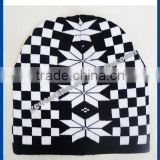 new product for 2014 Wholesale china manufacture OEM CUSTOM LOGO jacquard winter men acrylic beanie hat and cap