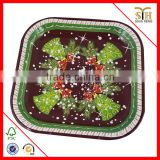 China's best Eco Friendly Design Biodegrable Paper Plates for Halloween Party, Paper Plate with Printing