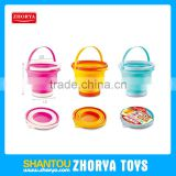 Zhorya children outdoor cheap summer play set 2.5L foldable bucket toys beach set toy