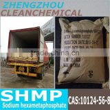 Pakistan high quality Sodium Hexametaphosphate 68% (SHMP) calgon water soften and purify raw material China supplier