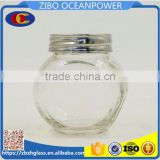 mini Flat drum type glass spice bottle jar