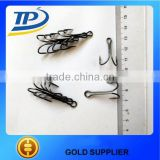High Carbon Steel Double Fishing Hooks Black Double Fly hooks and Frog hooks