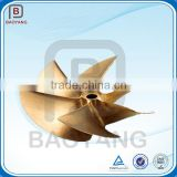 Investment casting oem speed boat bronze six blade water propeller