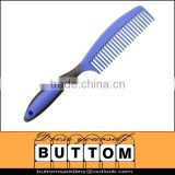 Horse mane comb plastic horse mane comb with rubber handle for thick mane and tail