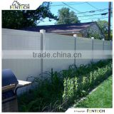 Fentech White Flat-Top Privacy Vinyl Yard Fencing Plastic Garden Fence with Flat Fence Post Cap