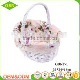 Wholesale China custom promotional eco white wicker flower girl baskets