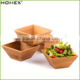Bamboo bowl for salad,fruit serving bowl Homex-BSCI
