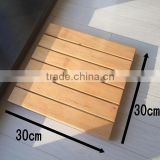 Natutal solid wooden spa Shower Mat Bamboo Floor Mat for Bath, Spa, Pool