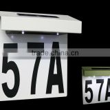 FQ-533 Solar LED Lighted Address Signs, house number Plaques, Doorplate light,led movable lighted sign