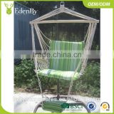 Hanging Chaise Lounger Chair Arc Stand Air Porch Swing Hammock Chair With Canopy