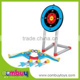 Good quality kids sport toys plastic small bow and arrow target shooting toy