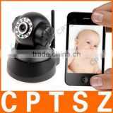 In Stock P2P MJPEG Pan-Tilt Wireless Infrared IP Camera,MJPEG P2P Baby Monitor 100--240V