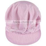 5mm Grid Polyester ESD Flat Brim Fitted Cap for Women