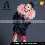 Environmental safety material girls faux fur winter coats