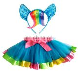 tutu skirt and elastic flower headband baby unicorn headband for kids