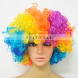 rainbow Color Cosplay Party full Hair Wig
