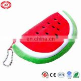 Watermelon shape piece cute tiny plush purse