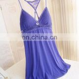Cross straps confortable nightwear,Soft erotic night dress,nightgown