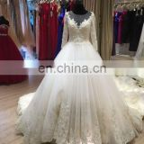 ivory color bridal gown wedding dress long sleeve 2016