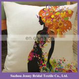 SQP026E wholesale hand embroidered plain linen anime body pillow covers