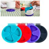 Anti-slip Silicone Red Wine & Tea & Coffee Cup Mat / Cup Lid