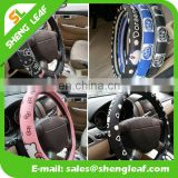 Eco friendly customize design soft silicone car steering wheel cover for girls