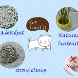 Less dust and strong odor control bentonite cat litter