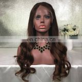 High Quality Long Glueless Brown Hair Lace Front Wigs Cheap Brazilian Virgin Human Hair Full Lace Wig For Black Women