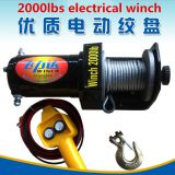 car winch for auto and self-help with 4000lbs and DC12V/24V and wired remote control