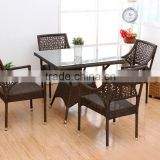 Backyard Classic Ratten set, four people dining set