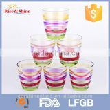 Transparent colorful Glass Tumbler & drinking water cup & Whiskey cup & Tableware                                                                         Quality Choice