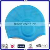 colorful promotional ear protection swim cap