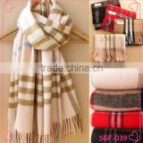 High quality fashionable cotton cashmere imitation tassel scarf