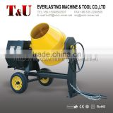 350L electric/gasoline/diesel cement mixer with cast iron gear ring